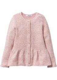 Cardigan con lurex, bpc bonprix collection, Rosa tenero / oro