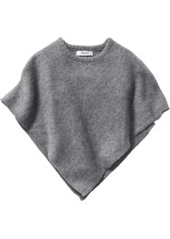 Poncho in maglia, bpc bonprix collection, Antracite melange