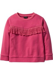 Felpa con frange, bpc bonprix collection, Fucsia medio