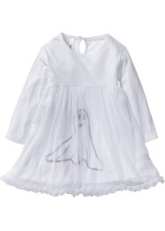 Abito con tulle per Halloween, bpc bonprix collection, Bianco stampato