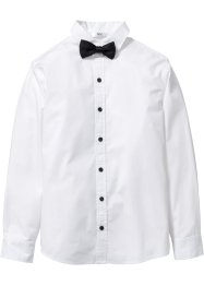 Camicia con papillon, bpc bonprix collection, Bianco