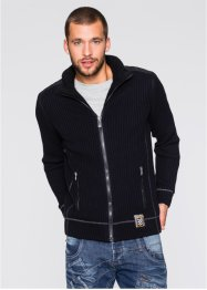 Cardigan foderato slim fit, RAINBOW, Nero