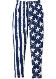 Leggings lungo, bpc bonprix collection, Blu scuro / bianco fantasia