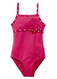 Costume intero (pacco da 2), bpc bonprix collection, Fucsia scuro fantasia