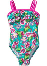 Costume intero, bpc bonprix collection, Fucsia / turchese a fiori