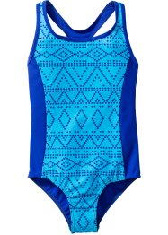 Costume intero per bambina, bpc bonprix collection, Turchese / blu