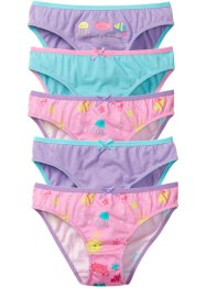Slip (pacco da 5), bpc bonprix collection, Rosa fantasia + lilla + acqua