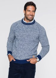 Pullover regular fit, bpc bonprix collection, Blu melange