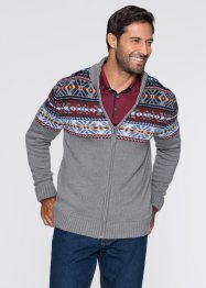 Cardigan in stile norvegese regular fit, bpc bonprix collection, Marrone chiaro fantasia