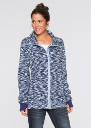 Cardigan con pile, bpc bonprix collection, Blu notte