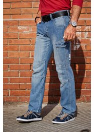 Jeans loose fit straight, John Baner JEANSWEAR, Blu medio used