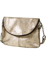 Borsa in pelle metallizzata con cerniera, bpc bonprix collection, Oro