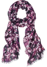 Scialle a fiori, bpc bonprix collection, Viola / fucsia