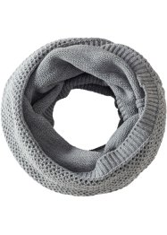 Sciarpa ad anello, bpc bonprix collection, Grigio melange