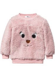 Pullover in pellicciotto sintetico, bpc bonprix collection, Rosa tenero