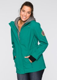 Giaccone in softshell 2 in 1, bpc bonprix collection, Verde smeraldo scuro