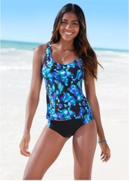 Tankini, bpc bonprix collection, Blu / nero