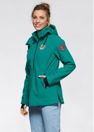 Giacca in softshell, bpc bonprix collection, Verde smeraldo scuro