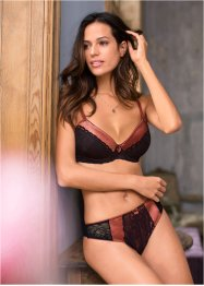 Reggiseno push-up, BODYFLIRT, Marsala / nero