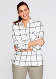 Camicia a manica lunga, bpc bonprix collection, Bianco / nero a quadri