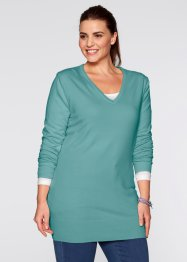 Pullover, bpc bonprix collection, Blu minerale