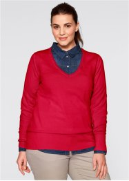 Pullover, bpc bonprix collection, Rosso scuro