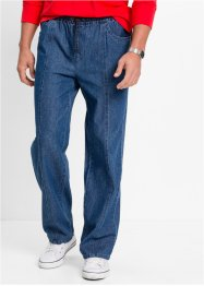 Pantalone con elastico classic fit straight, bpc bonprix collection, Blu