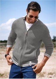 Cardigan regular fit, John Baner JEANSWEAR, Grigio melange