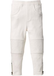 Leggings trapuntato, bpc bonprix collection, Bianco panna