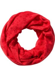 Sciarpina a stelle, bpc bonprix collection, Fragola / rosso scuro