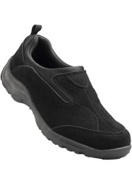 Mocassino in pelle, bpc bonprix collection, Nero