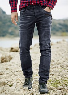 Jeans regular fit tapered, RAINBOW, Dark blu used