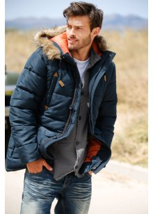 Parka imbottito regular fit, RAINBOW, Blu