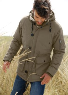 Parka regular fit, bpc bonprix collection, Verde oliva scuro