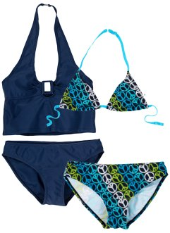 Bikini + tankini (set 4 pezzi), bpc bonprix collection, Blu scuro