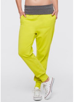 Pantaloni harem, bpc bonprix collection, Lime / grigio melange