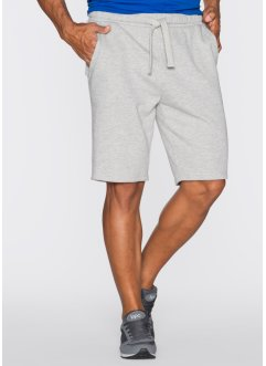 Shorts di felpa regular fit, bpc bonprix collection, Grigio chiaro melange
