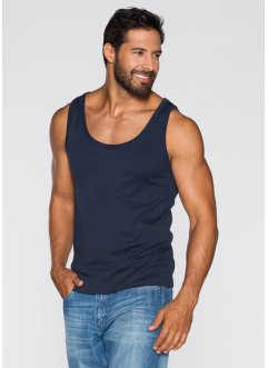 Canotta (pacco da 2) regular fit, bpc bonprix collection, Blu scuro + bianco