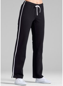 Pantaloni da jogging in felpa, bpc bonprix collection, Nero