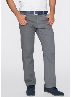 Pantalone termico straight regular fit, bpc bonprix collection, Grigio fumé