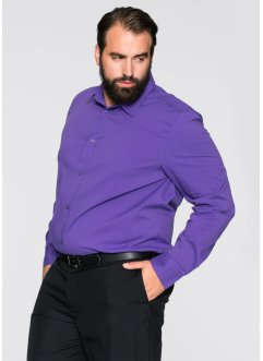 Camicia elasticizzata slim fit, bpc selection, Viola