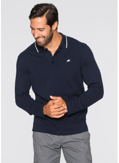 Polo a manica lunga, bpc bonprix collection, Blu scuro