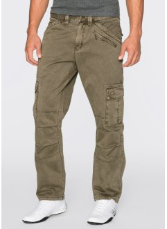 Pantalone cargo loose fit straight, RAINBOW, Kaki