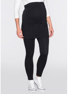 Leggings con gonna prémaman, bpc bonprix collection, Nero