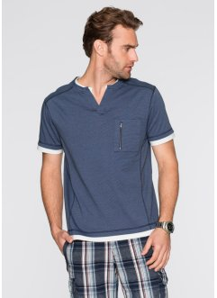 T-shirt regular fit, bpc bonprix collection, Blu scuro a righe