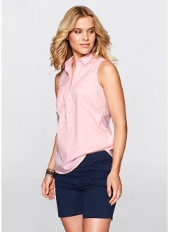 Blusa senza maniche, bpc bonprix collection, Rosa cipria