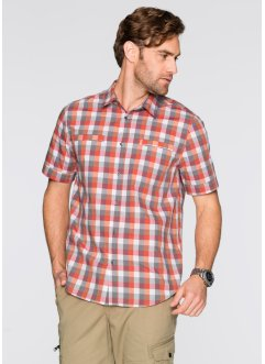 Camicia a quadri regular fit, bpc selection, Mandarino a quadri