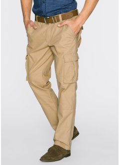 Pantalone cargo loose fit, bpc bonprix collection, Cappuccino