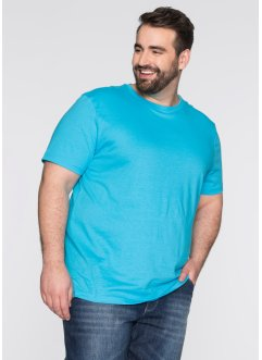 T-shirt (pacco da 3) regular fit, bpc bonprix collection, Bianco + turchese + nero