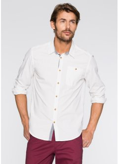 Camicia a manica lunga regular fit, bpc bonprix collection, Bluette